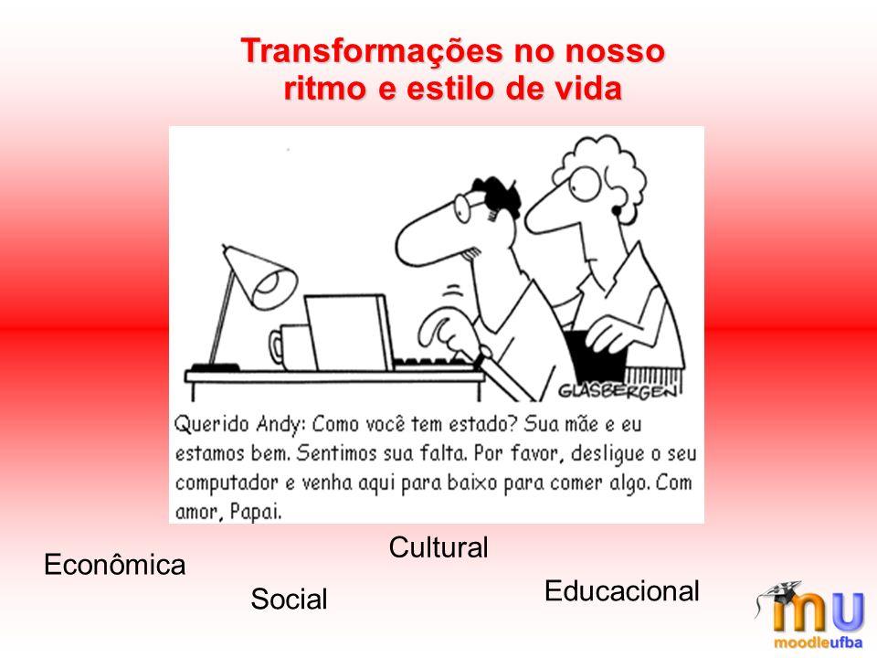 Transformações no nosso ritmo e estilo de vida Econômica Social Cultural Educacional