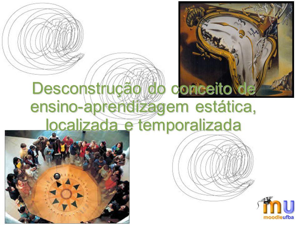 Desconstrução do conceito de ensino-aprendizagem estática, localizada e temporalizada