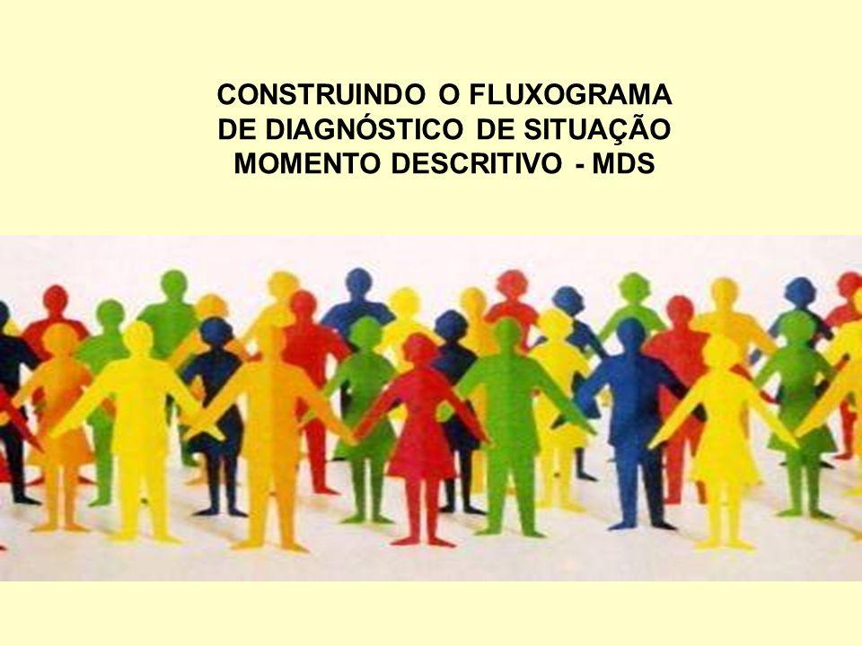 CONSTRUINDO O FLUXOGRAMA DE DIAGNÓSTICO DE SITUAÇÃO MOMENTO DESCRITIVO - MDS