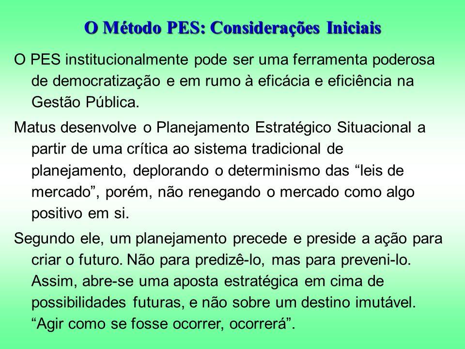 O PES institucionalmente pode ser uma ferramenta poderosa de democratização e em rumo à eficácia e eficiência na Gestão Pública.