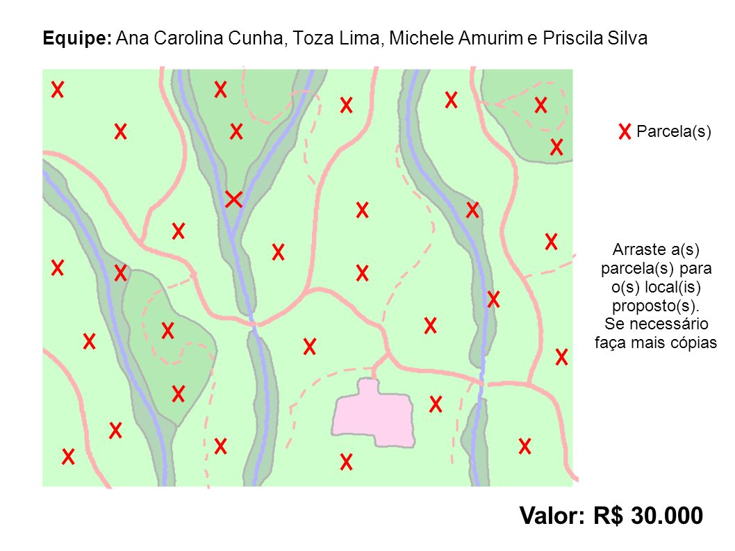 Equipe: Ana Carolina Cunha, Toza Lima, Michele Amurim e Priscila Silva Valor: R$ 30.000 Parcela(s) Arraste a(s) parcela(s) para o(s) local(is) proposto(s).