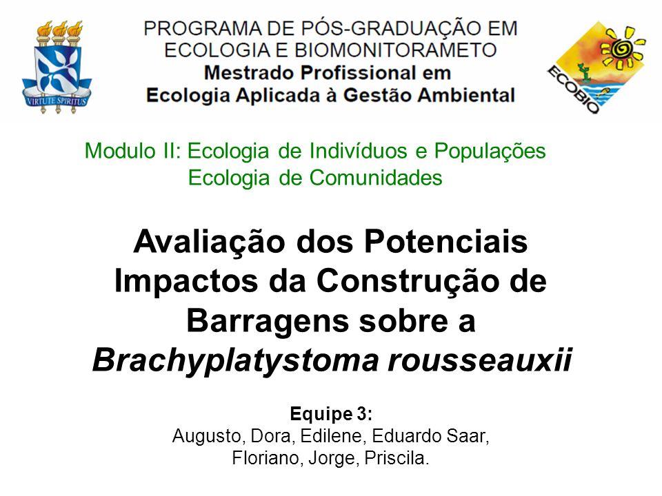 Modulo II: Ecologia de Indivíduos e Populações Ecologia de Comunidades Equipe 3: Augusto, Dora, Edilene, Eduardo Saar, Floriano, Jorge, Priscila. Aval