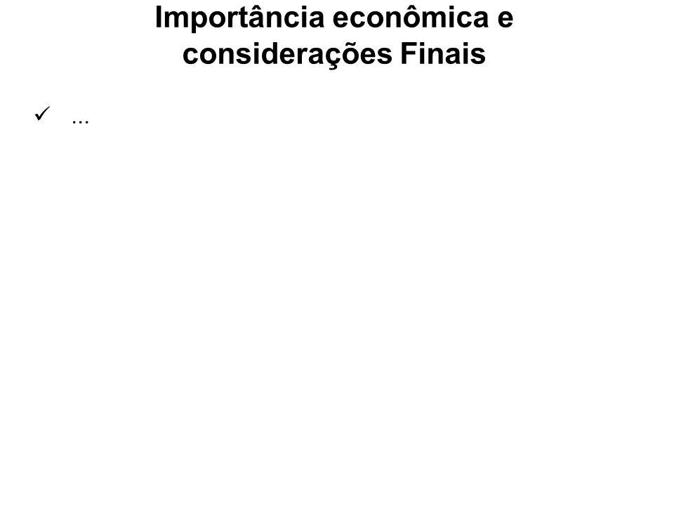 Importância econômica e considerações Finais...