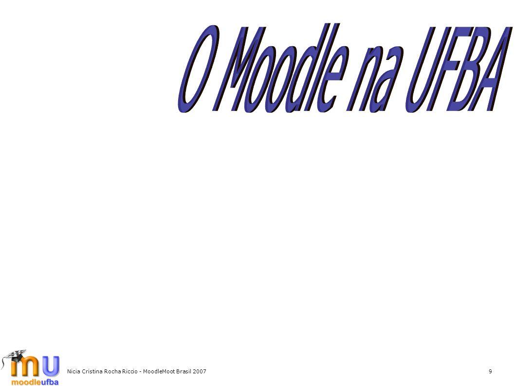 Nicia Cristina Rocha Riccio - MoodleMoot Brasil 20079