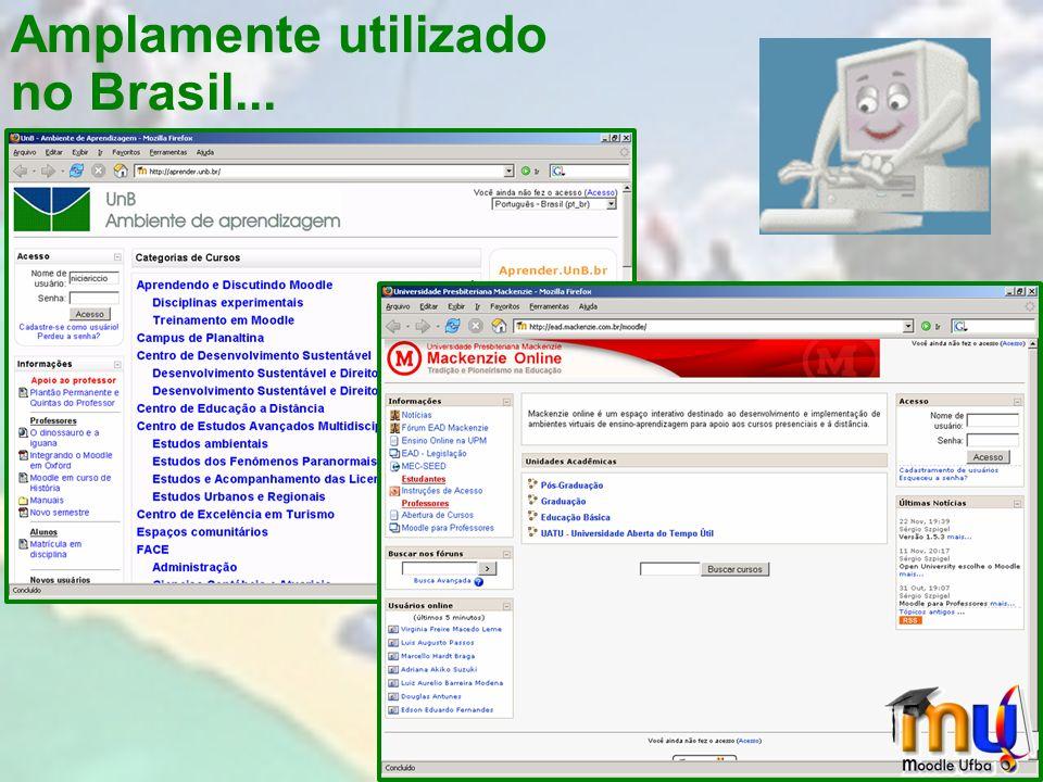 Amplamente utilizado no Brasil...