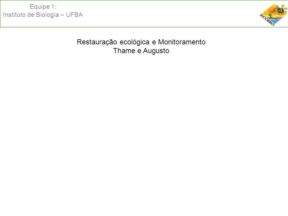 Equipe 1: Instituto de Biologia – UFBA PLC 30/2011 – CAPÍTULO IV – DO USO ECOLOGICAMENTE SUSTENTÁVEL DOS APICUNS E SALGADOS - Art.