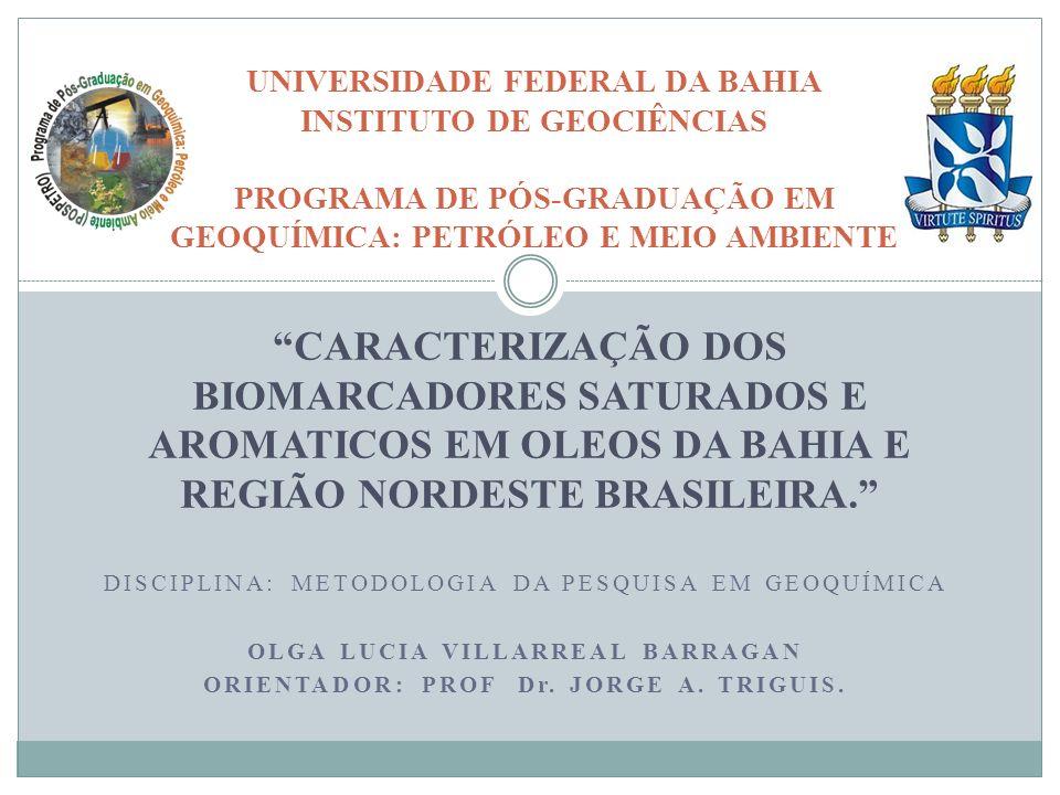 RESUMO ANALISADAS AMOSTRAS DE ÓLEOS DA BACIA DO RECÔNCAVO E DE REGIÕES DO NORDESTE DE BRASIL.