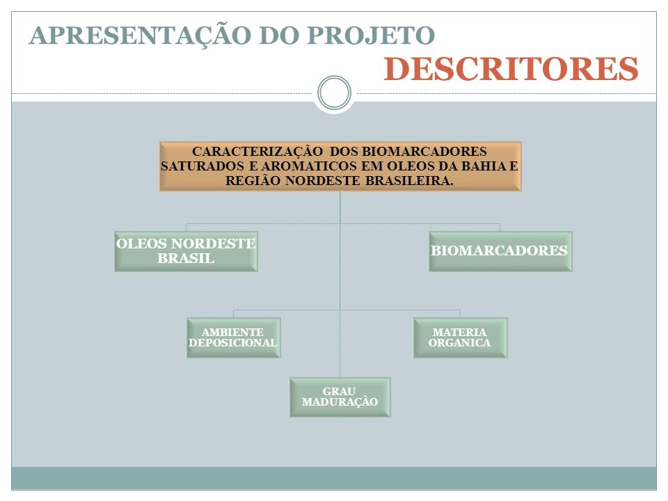 CARACTERIZAÇÃO DOS BIOMARCADORES SATURADOS E AROMATICOS EM OLEOS DA BAHIA E REGIÃO NORDESTE BRASILEIRA. OLEOS NORDESTE BRASIL AMBIENTE DEPOSICIONAL GR