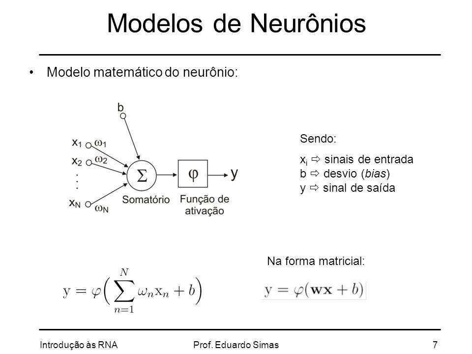 Introdução às RNAProf. Eduardo Simas18 TIPOS MAIS COMUNS DE RNA