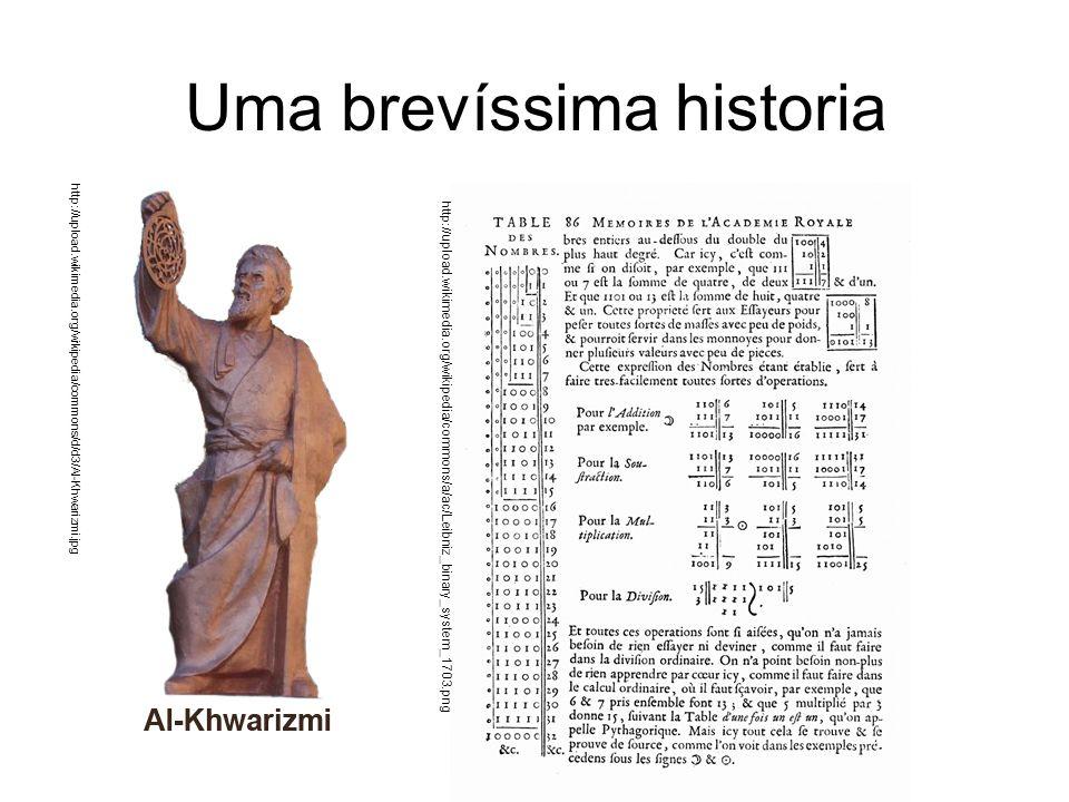 Uma brevíssima historia http://upload.wikimedia.org/wikipedia/commons/d/d3/Al-Khwarizmi.jpg http:// upload.wikimedia.org/wikipedia/commons/a/ac/Leibniz_binary_system_1703.png