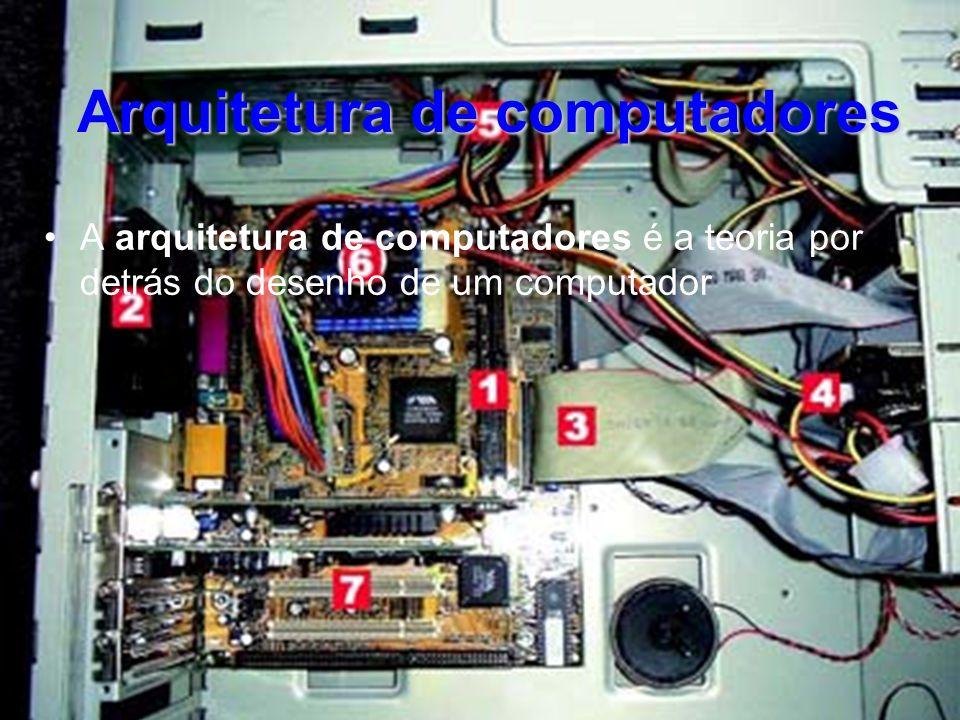 Arquitetura de computadores A arquitetura de computadores é a teoria por detrás do desenho de um computador