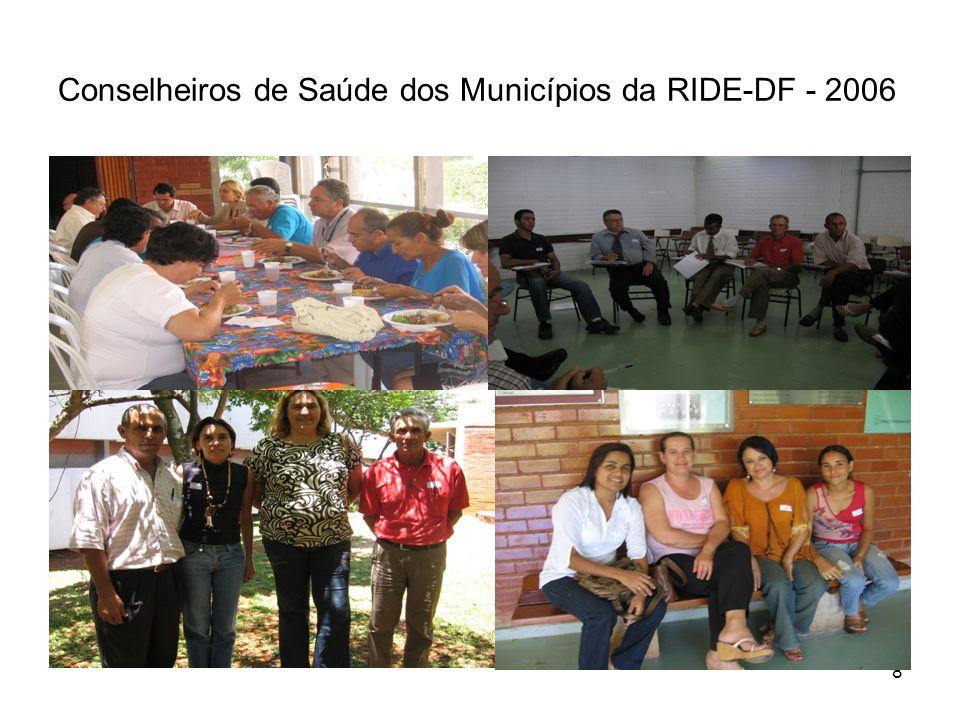 8 Conselheiros de Saúde dos Municípios da RIDE-DF - 2006