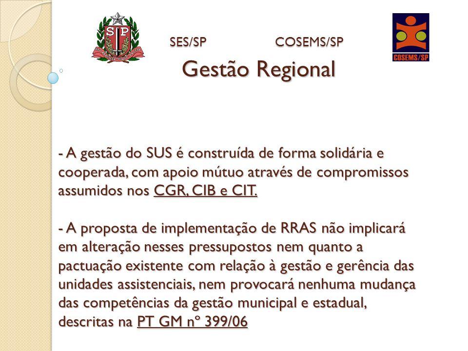 - A gestão do SUS é construída de forma solidária e cooperada, com apoio mútuo através de compromissos assumidos nos CGR, CIB e CIT. - A proposta de i