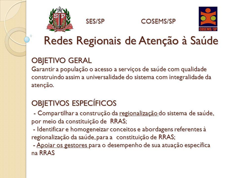 OBJETIVO GERAL Garantir a população o acesso a serviços de saúde com qualidade construindo assim a universalidade do sistema com integralidade da aten