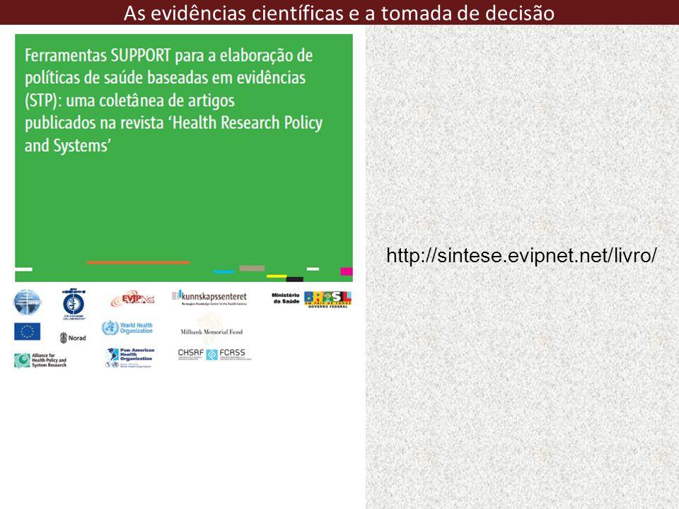 http://sintese.evipnet.net/livro/ As evidências científicas e a tomada de decisão