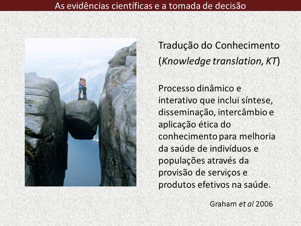 http://www.who.int/evidence/en/ As evidências científicas e a tomada de decisão
