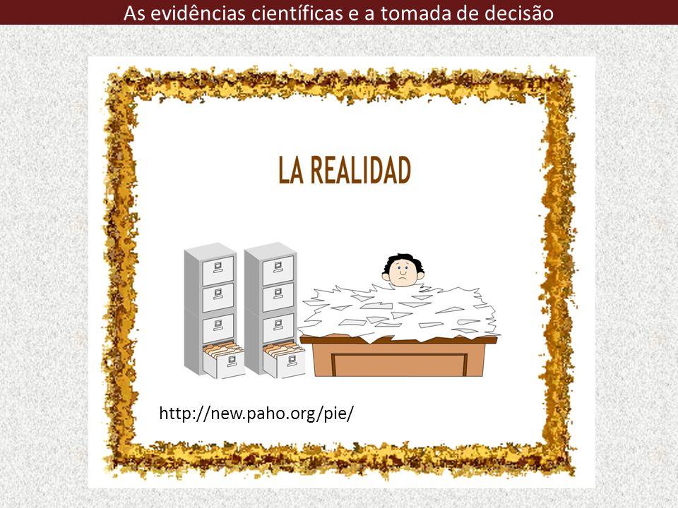 http://new.paho.org/pie/ As evidências científicas e a tomada de decisão