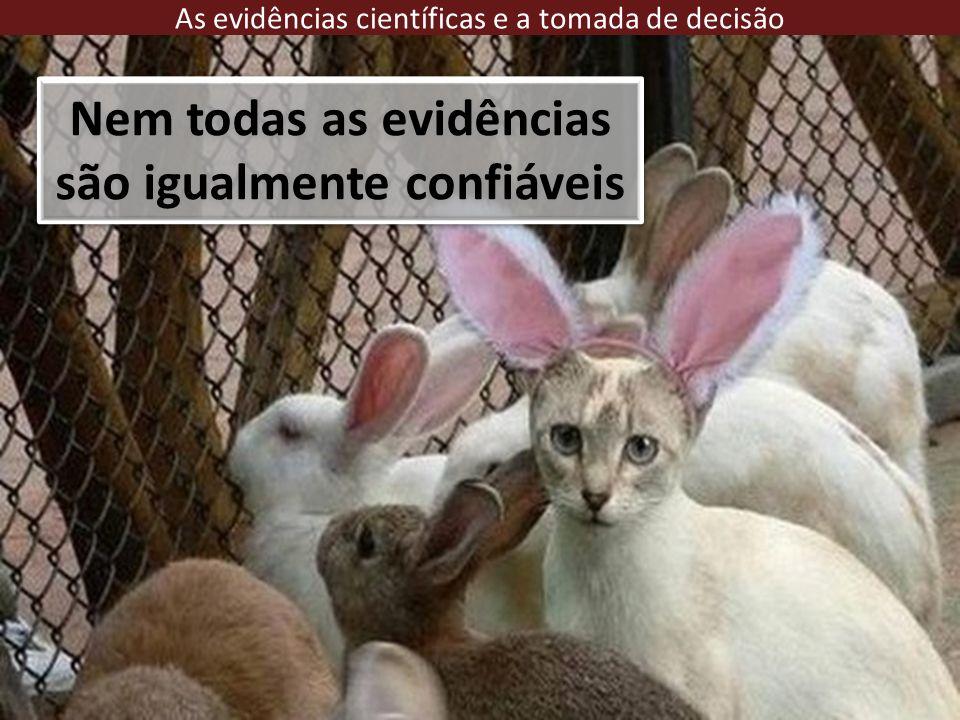 Nem todas as evidências são igualmente confiáveis As evidências científicas e a tomada de decisão