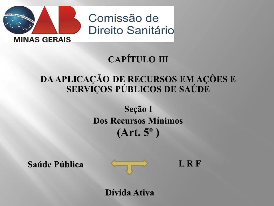 CONSIDERAÇÃO DAS DESPESAS LC 141/12 Art.24.