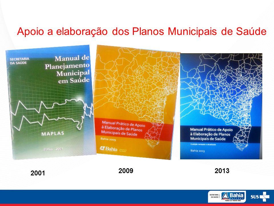 Apoio a elaboração dos Planos Municipais de Saúde 2001 200992013 Apoio a elaboração dos Planos Municipais de Saúde 2001