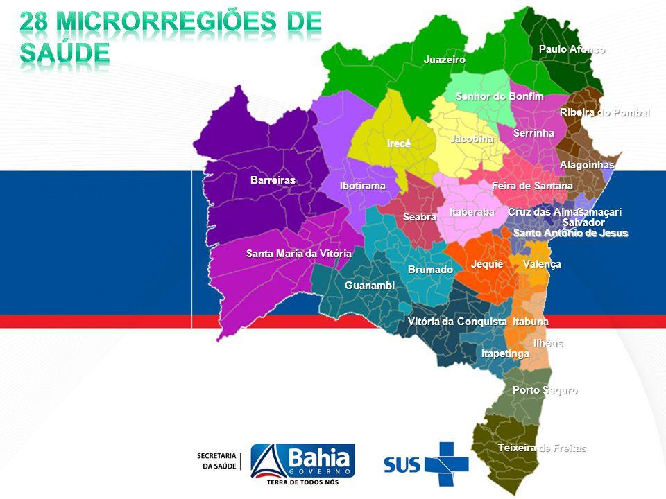 Comissão Intergestores Bipartite da Bahia (CIB/BA) OPERACIONALIZAÇÃO DO DECRETO 7.508/11 NA BAHIA: - Reconhecimento e definição das regiões de saúde do estado da Bahia - Definição das instâncias colegiadas interfederativas – CGMR/CIR CIB/BA – 21 DE MAIO DE 2012 - Proposição e pactuação da agenda com MS/SESAB/COSEMS - até dezembro/2012: 1º Momento: Alinhamento técnico entre MS/SESAB/COSEMS - agendar cronograma e pactuar na próxima CIB – 06/06/2012 2º Momento: Discussão: MS+SESAB+GOVERNADOR+PREFEITOS+COSEMS (político) 3º Momento: Jurídico (PGE/PGM/Assessorias dos municípios) 4º Momento: Construção do MAPA DA SAÚDE 5º Momento: Elaboração e assinatura do COAP/região de saúde.