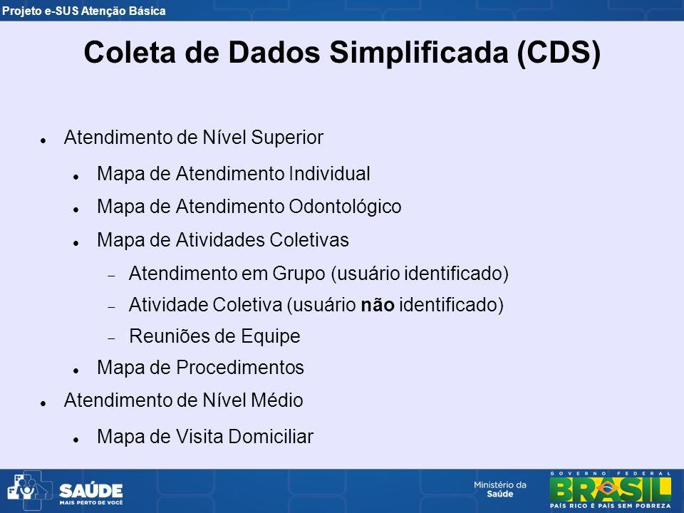 Atendimento de Nível Superior Mapa de Atendimento Individual Mapa de Atendimento Odontológico Mapa de Atividades Coletivas Atendimento em Grupo (usuár