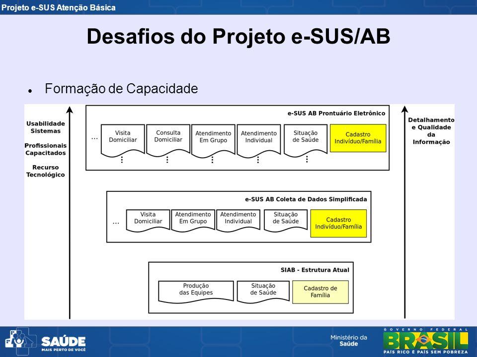 Projeto e-SUS Atenção Básica Formação de Capacidade Desafios do Projeto e-SUS/AB