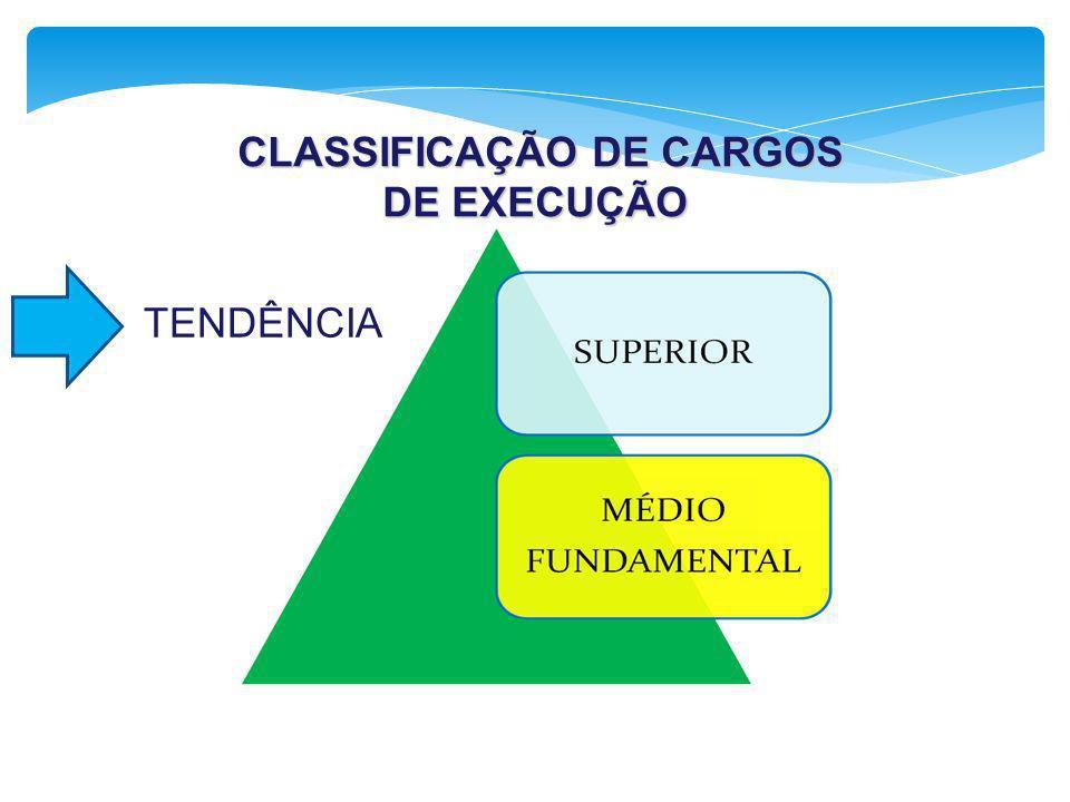CLASSIFICAÇÃO DE CARGOS DE EXECUÇÃO CLASSIFICAÇÃO DE CARGOS DE EXECUÇÃO TENDÊNCIA