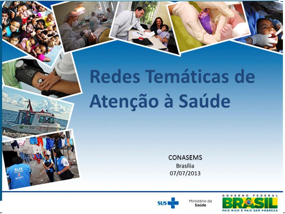 Redes Temáticas de Atenção à Saúde CONASEMSBrasília07/07/2013