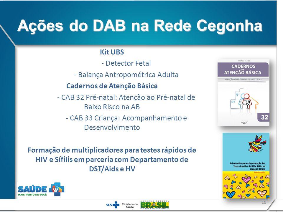 16 Kit UBS - Detector Fetal - Balança Antropométrica Adulta Cadernos de Atenção Básica - CAB 32 Pré-natal: Atenção ao Pré-natal de Baixo Risco na AB -