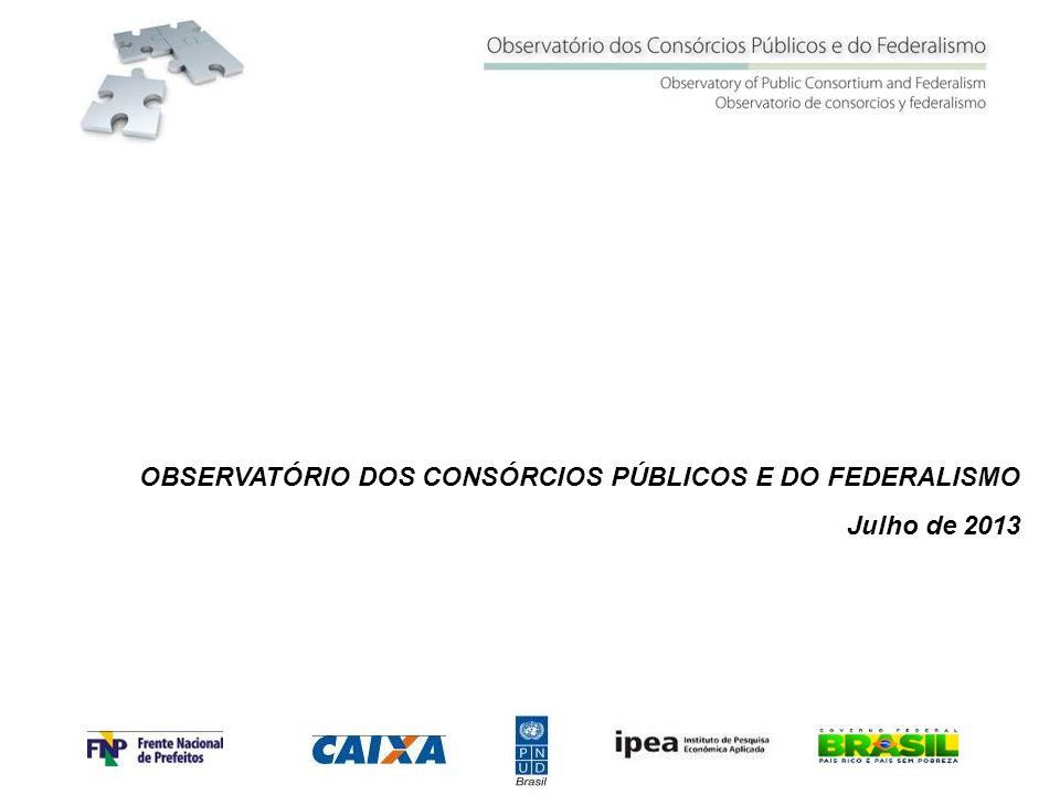 OBSERVATÓRIO DOS CONSÓRCIOS PÚBLICOS E DO FEDERALISMO Julho de 2013
