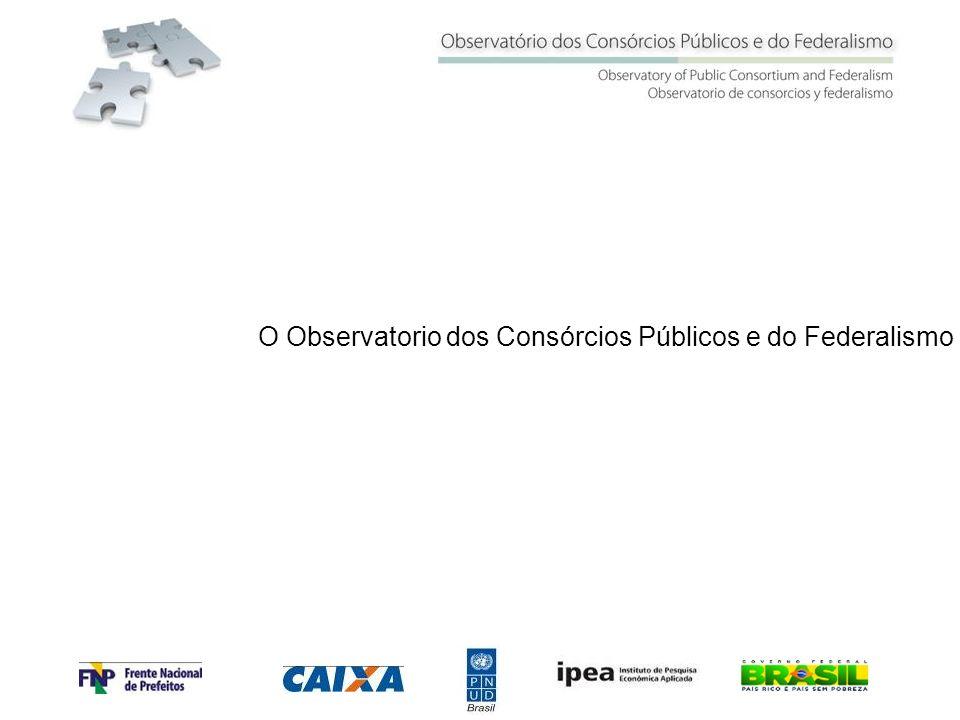 Observatório dos Consórcios Públicos e do Federalismo O Observatorio dos Consórcios Públicos e do Federalismo
