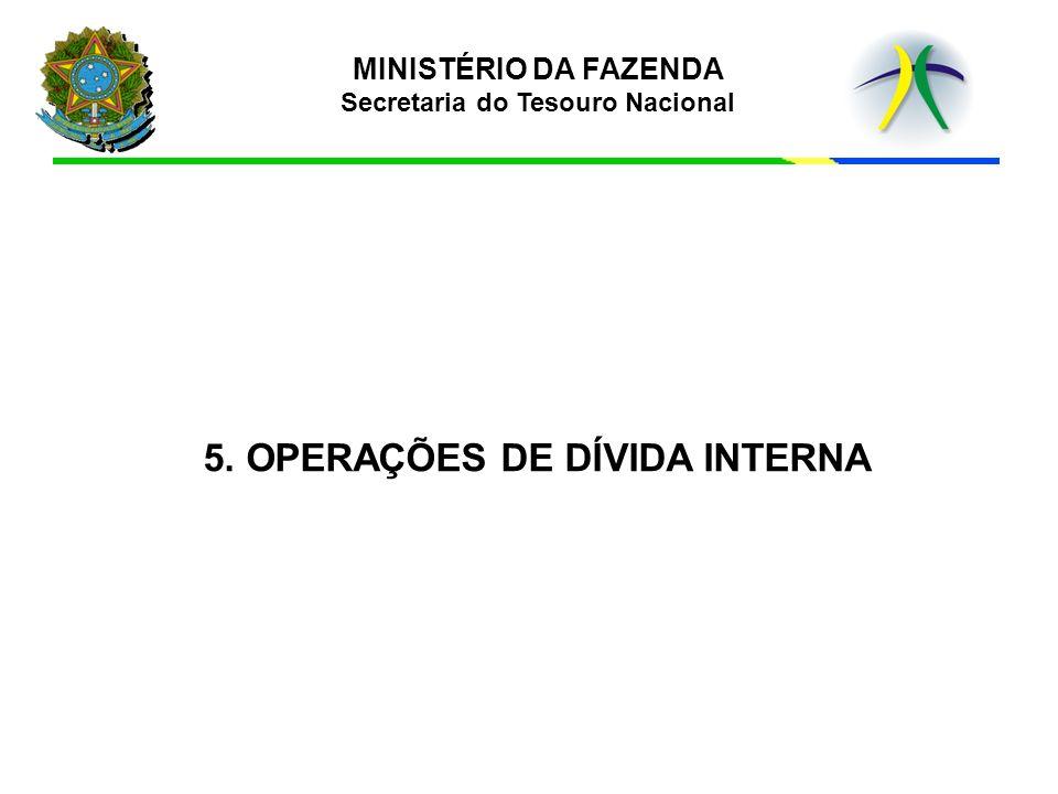 5. OPERAÇÕES DE DÍVIDA INTERNA MINISTÉRIO DA FAZENDA Secretaria do Tesouro Nacional