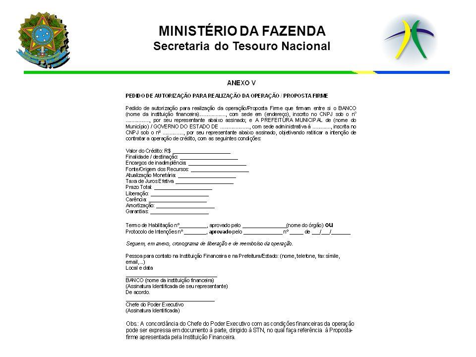 b)cronograma de liberação e reembolso da operação, devidamente assinado pelo representante legal da instituição financeira e pelo Chefe do Poder Executivo.