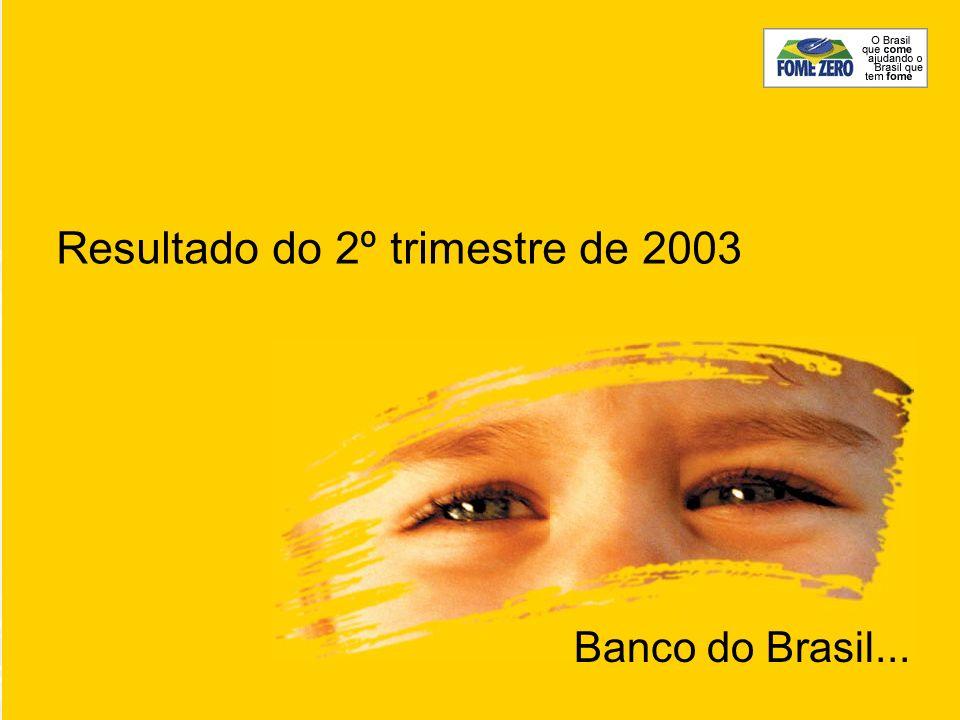 Resultado do 2º trimestre de 2003 Banco do Brasil...