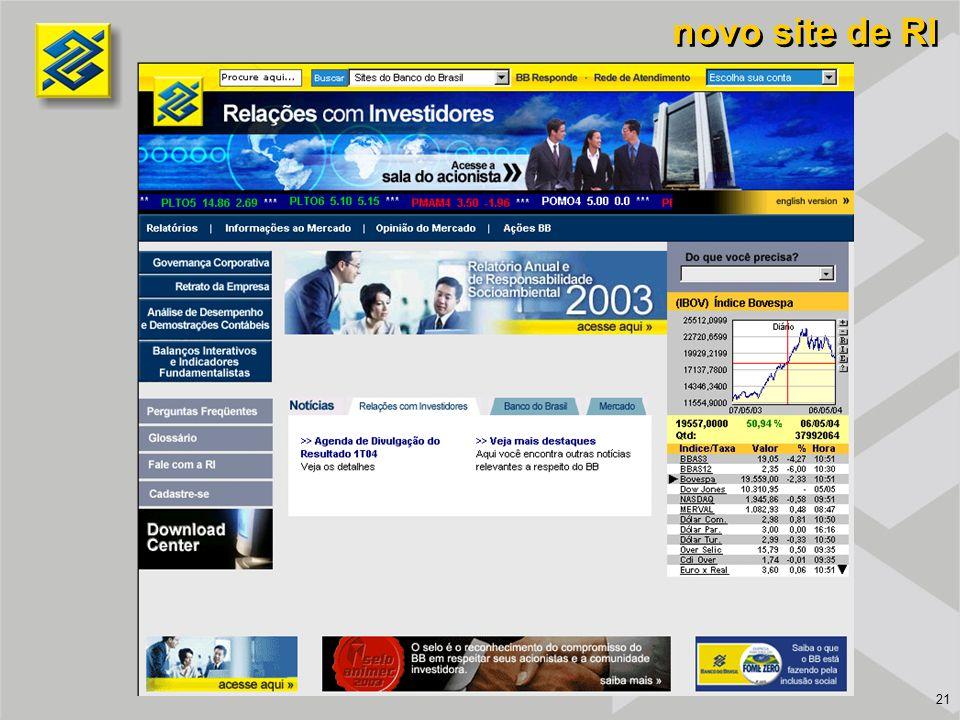 novo site de RI 21