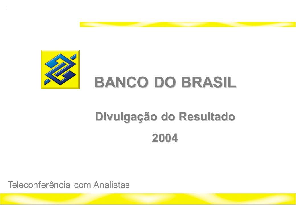 1 Banco do Brasil 2004 Relações com Investidores BANCO DO BRASIL Divulgação do Resultado 2004 Teleconferência com Analistas