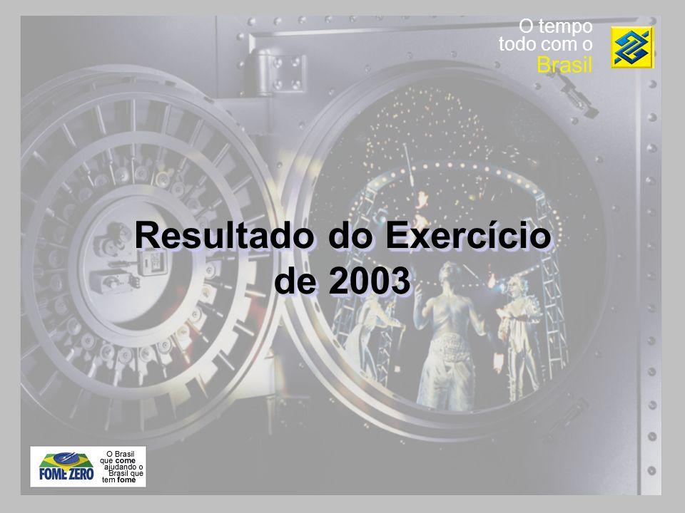 O tempo todo com o Brasil Resultado do Exercício de 2003
