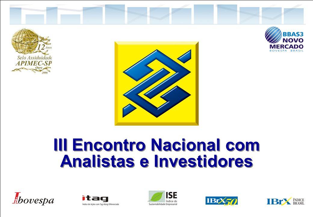 1 Relações com Investidores III Encontro Nacional com Analistas e Investidores