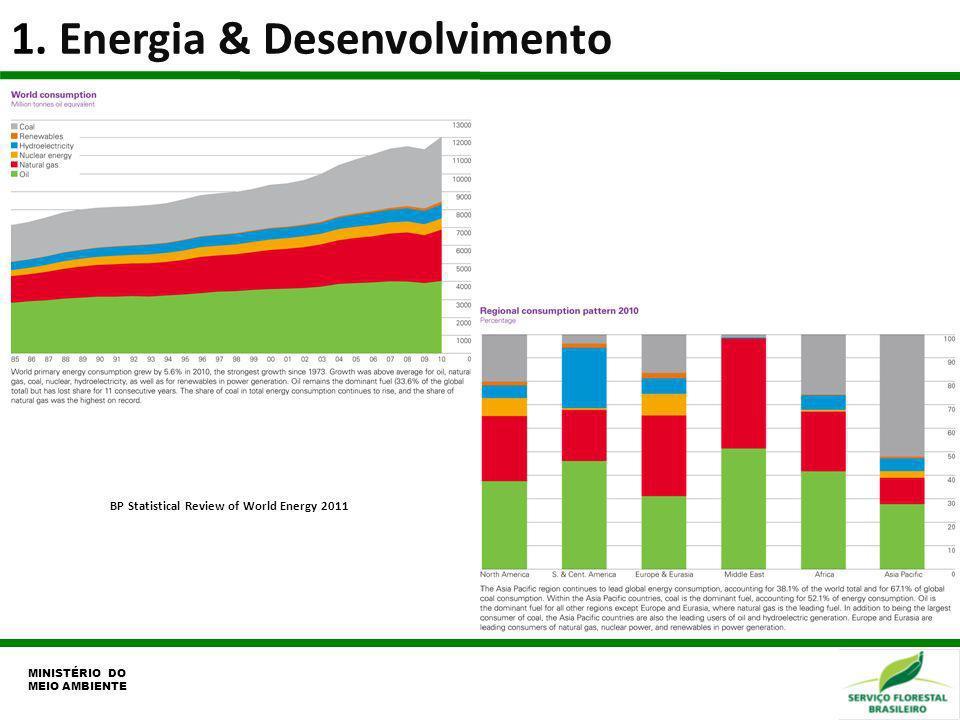 1. Energia & Desenvolvimento MINISTÉRIO DO MEIO AMBIENTE BP Statistical Review of World Energy 2011