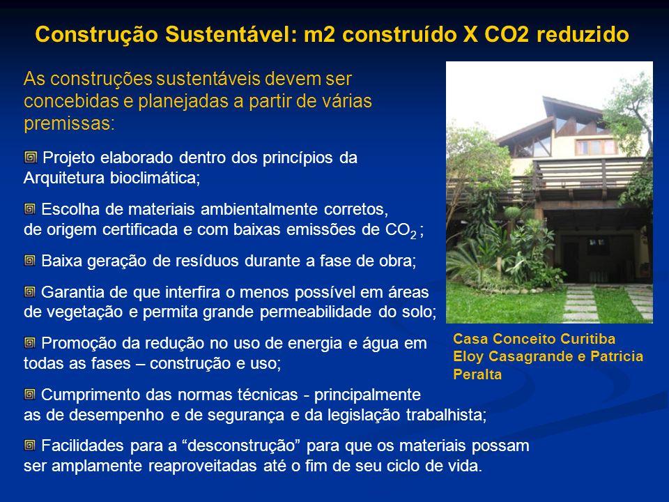 As construções sustentáveis devem ser concebidas e planejadas a partir de várias premissas: Projeto elaborado dentro dos princípios da Arquitetura bio