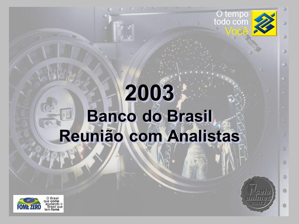 2003 Banco do Brasil Reunião com Analistas 2003 Banco do Brasil Reunião com Analistas O tempo todo com Você