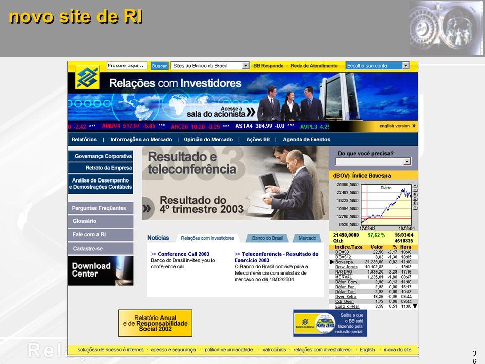 novo site de RI 36
