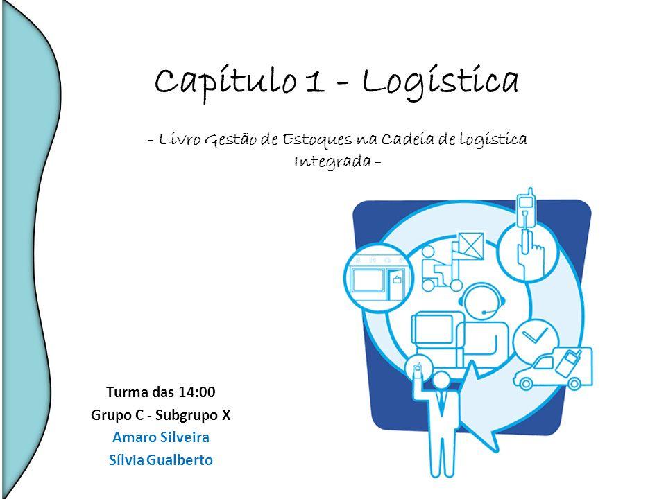 Capítulo 1 - Logística - Livro Gestão de Estoques na Cadeia de logística Integrada - Turma das 14:00 Grupo C - Subgrupo X Amaro Silveira Sílvia Gualbe