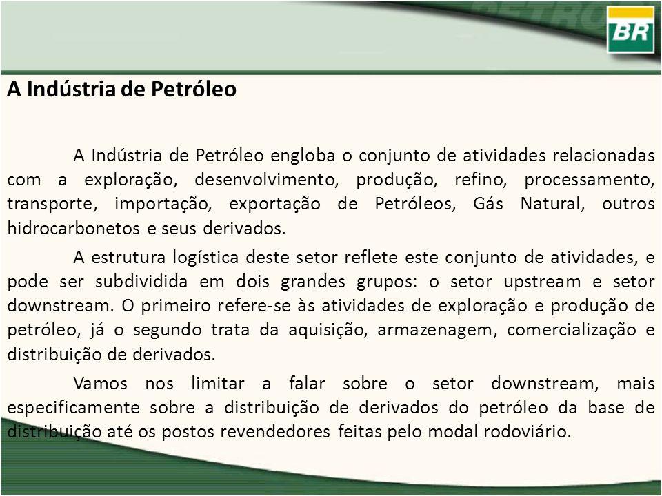 Logística de Distribuição de Combustíveis Automotivos A alternativa de distribuição mais utilizada pelo Petrobras, que será enfocada em nosso trabalho, é feita por modal rodoviário, que pode ser representada de maneira simplificada pela figura a seguir.