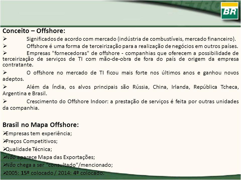 Conceito – Offshore: Significados de acordo com mercado (indústria de combustíveis, mercado financeiro). Offshore é uma forma de terceirização para a
