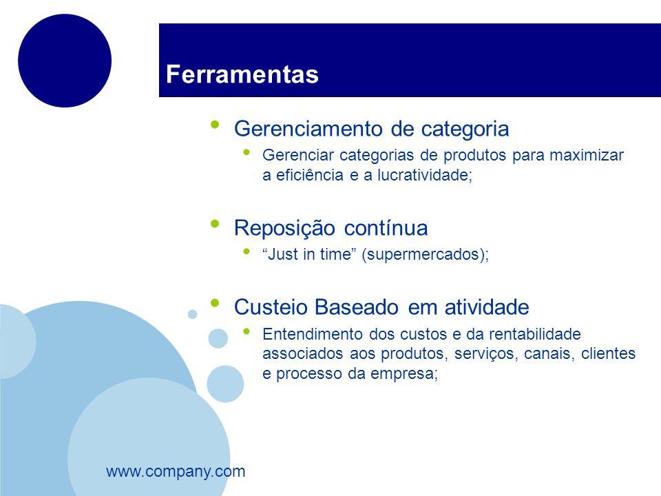 www.company.com Ferramentas Gerenciamento de categoria Gerenciar categorias de produtos para maximizar a eficiência e a lucratividade; Reposição contí