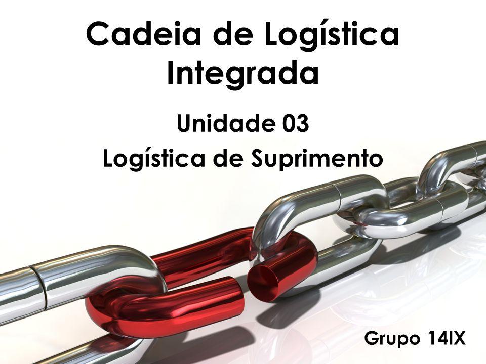 Cadeia de Logística Integrada Unidade 03 Logística de Suprimento Grupo 14IX