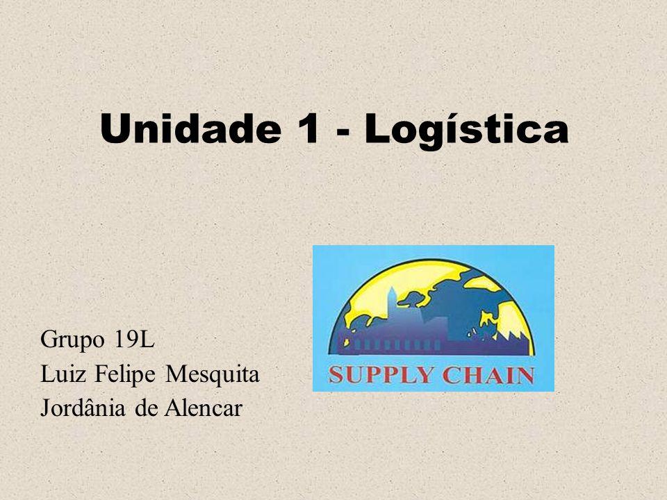 Unidade 1 - Logística Grupo 19L Luiz Felipe Mesquita Jordânia de Alencar