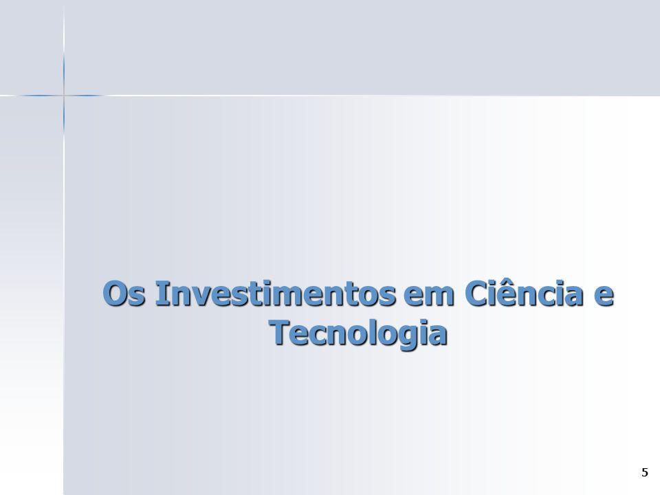 5 Os Investimentos em Ciência e Tecnologia
